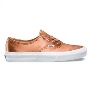 Vans authentic satin lux rose sneaker shoes